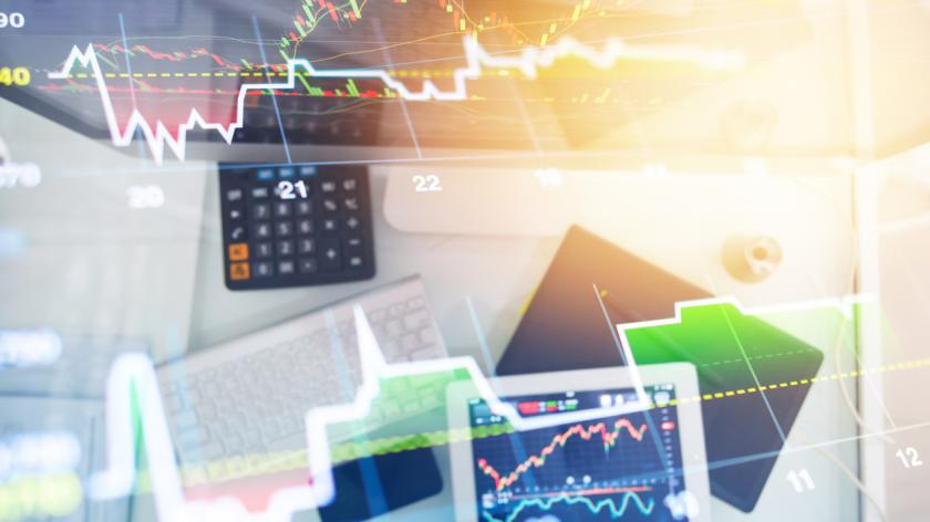 finance business analysis with digital tablet