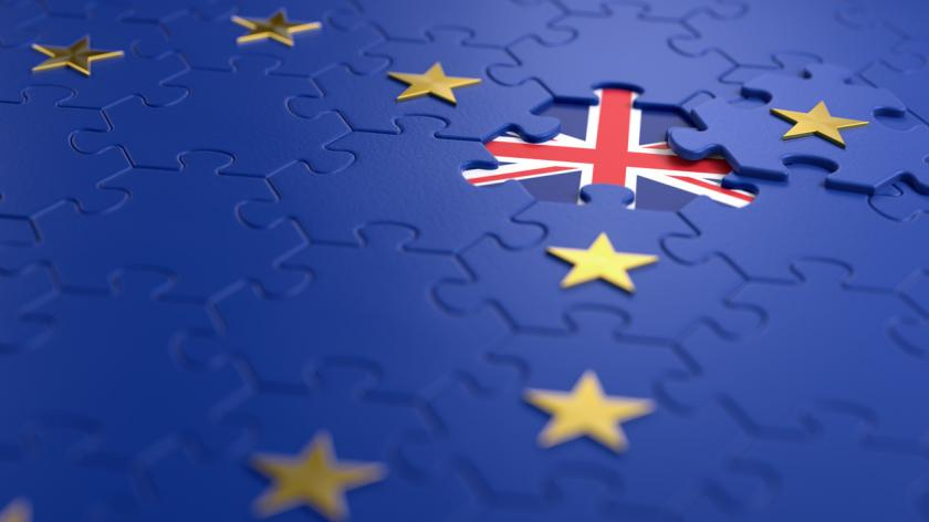 The idea of a 'Brexit' represented via jigsaw puzzle