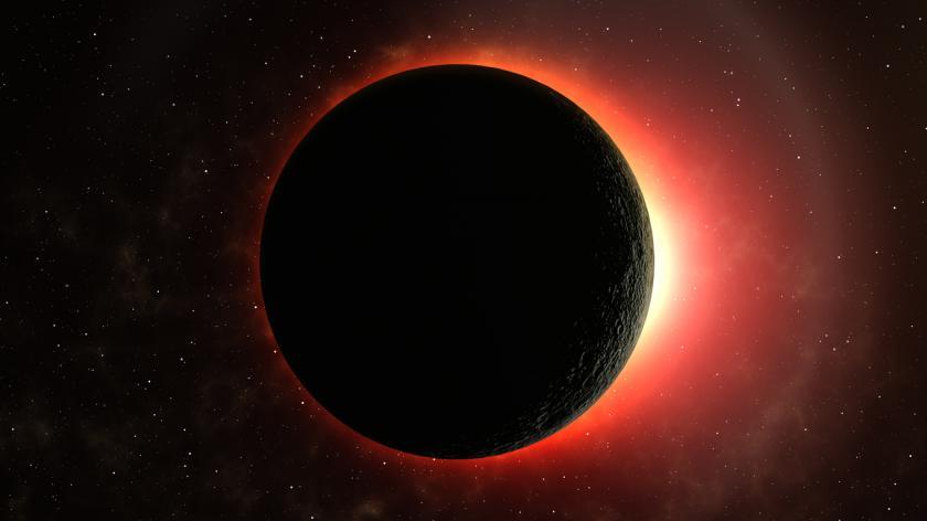 A red lunar eclipse