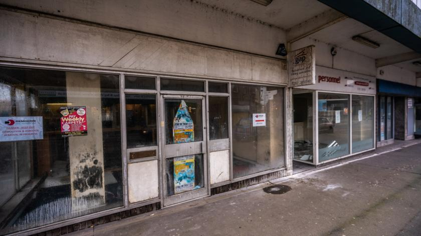 Abandoned shops as the high street collapses