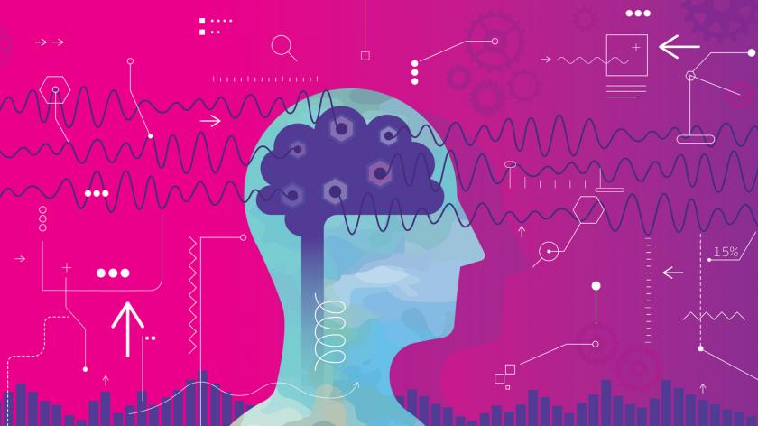 Measuring Brain Waves stock illustration