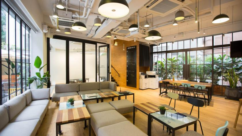 Modern co-working office space
