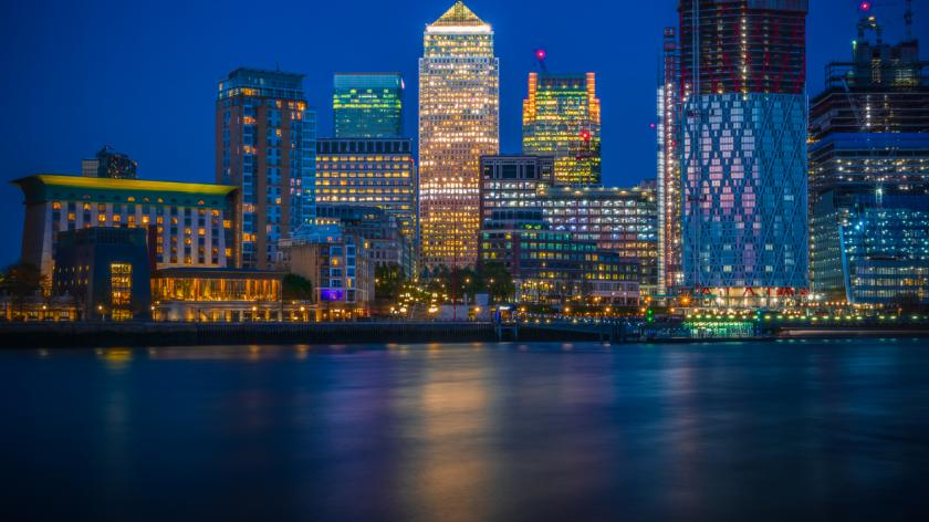 Canary Wharf with new development