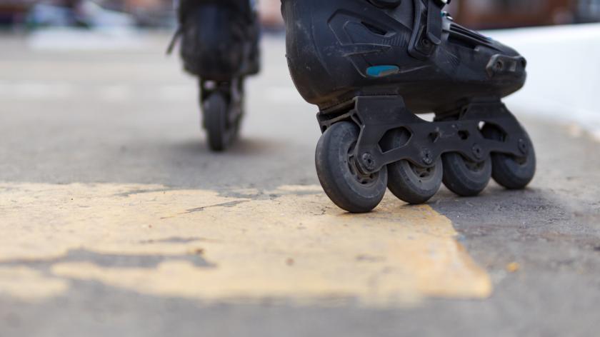 Close-up of roller skates