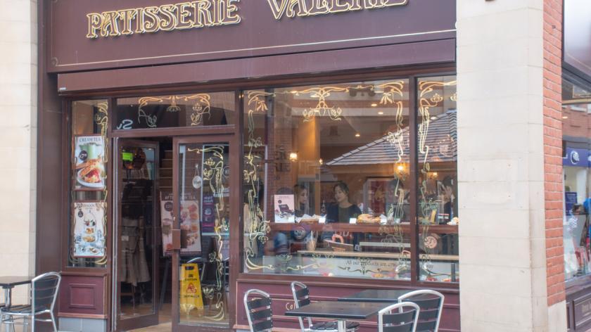 Shop front of Patisserie Valerie
