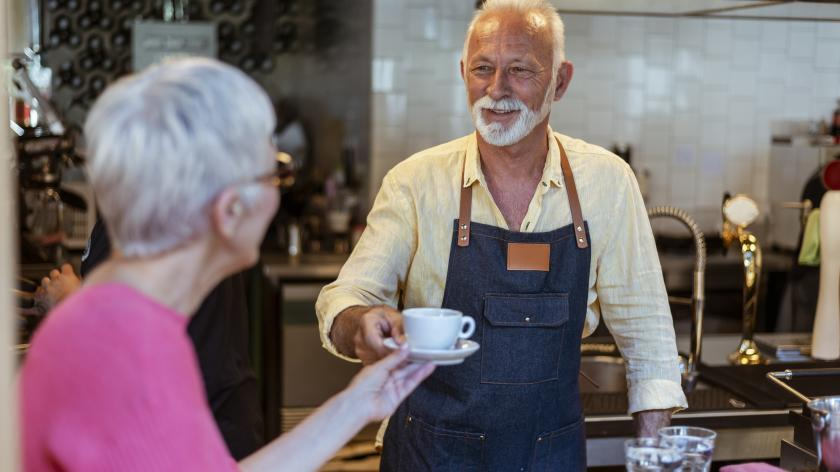 Focus on existing clients before chasing new ones - AccountingWEB - picture of a customer in a coffee shop