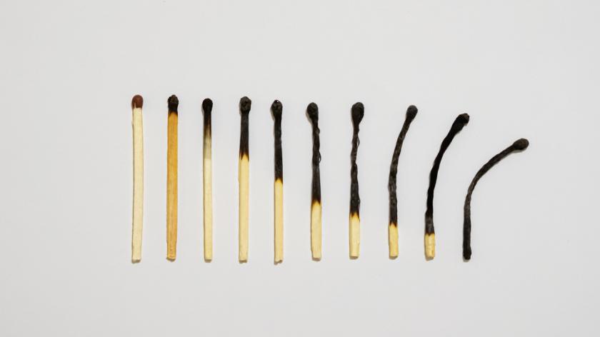 Burned matches