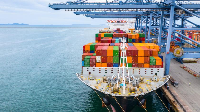 Cargo ship terminal