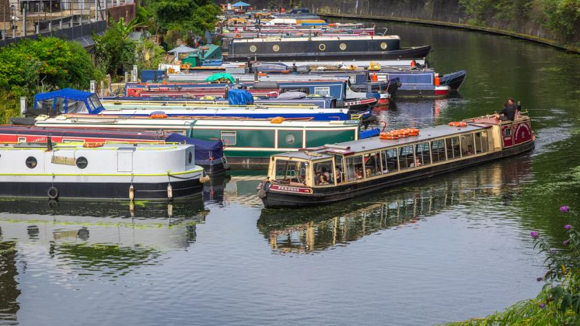 Tourist canal boat
