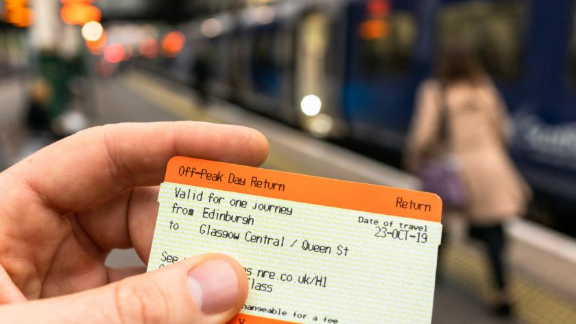 Close-up of a train ticket