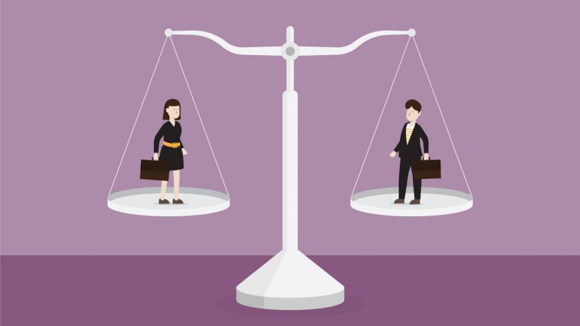 An illustration of equal pay