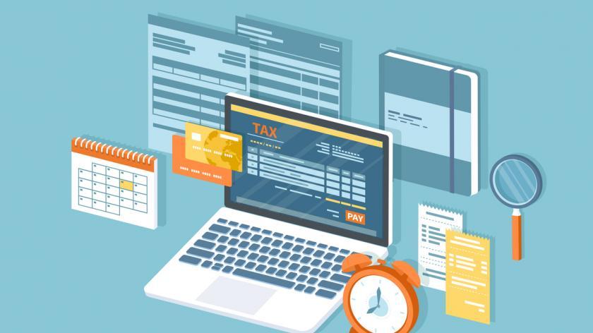 Tax payment via laptop
