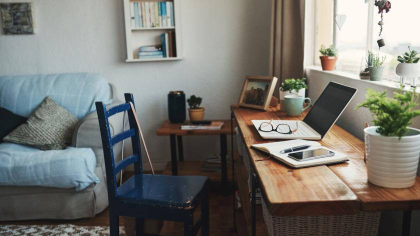Working at home tax deduction: Home office setup.