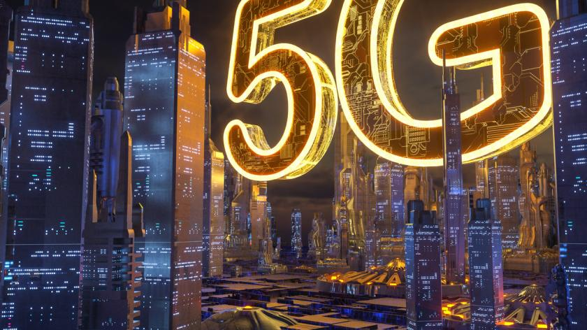 5G Artificial Intelligence technology CITY for backgrounds