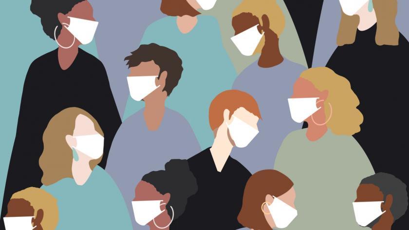 Wearing a medical face mask for coronavirus viruses