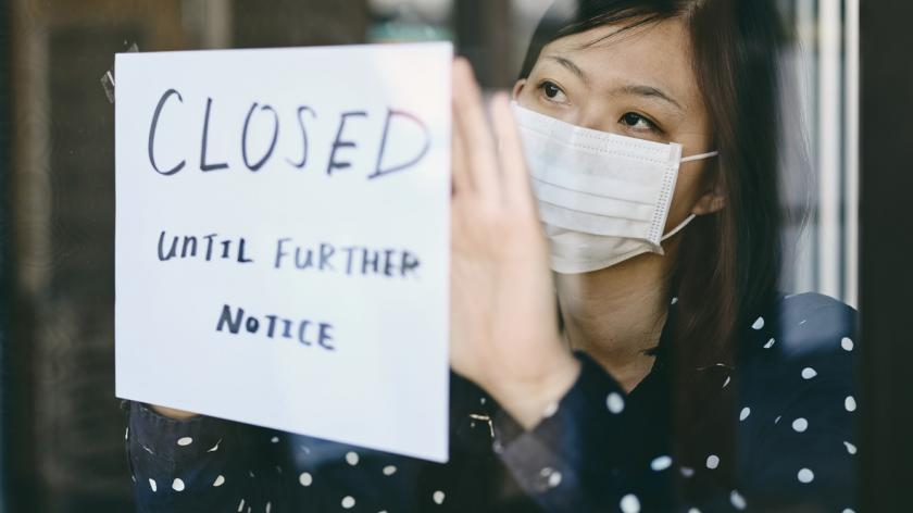 Small business shutting due to Covid pandemic