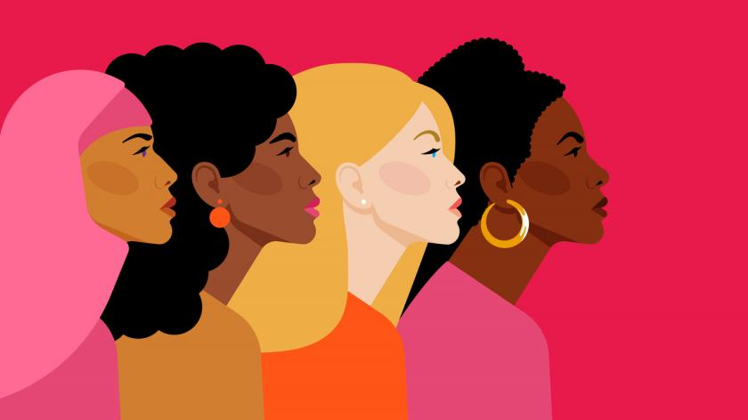 An image of diverse multi-ethnic women