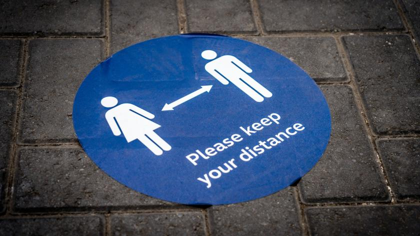 Keep your distance sign