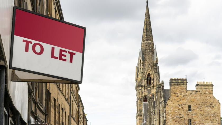 A picture of a to let sign
