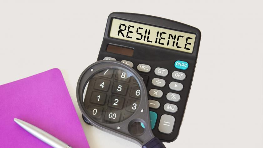 The resilience dividend: reaping the rewards of helping clients to help themselves | AccountingWEB | image of a calculator with the word resilience on the screen