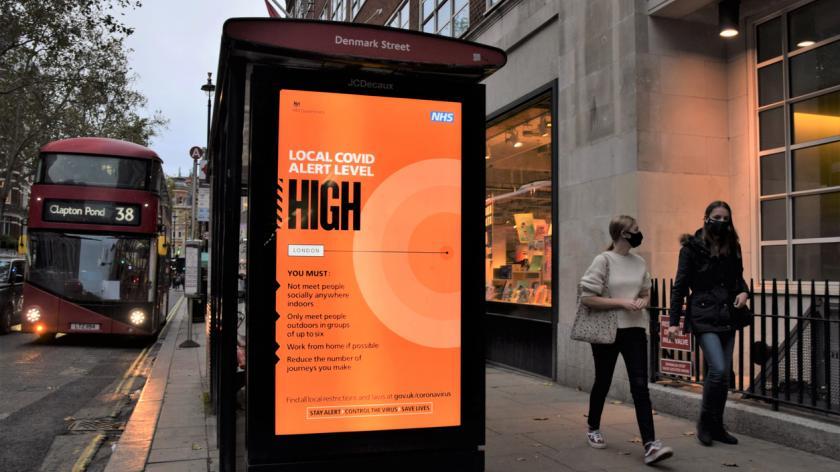 High alert level sign