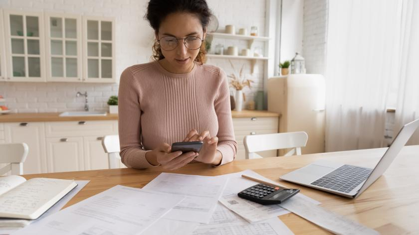 Making tax digital for small businesses - image of a person doing their taxes