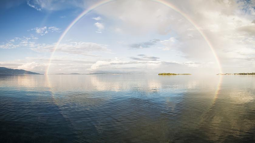 Business Recovery: is there hope on the horizon?   AccountingWEB   Image of a rainbow over the sea