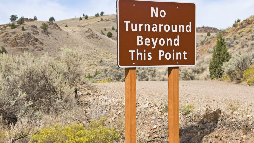 Business Recovery, turnaround options - image of a turnaround road sign