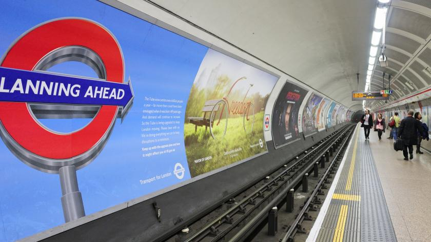 Tube advertising