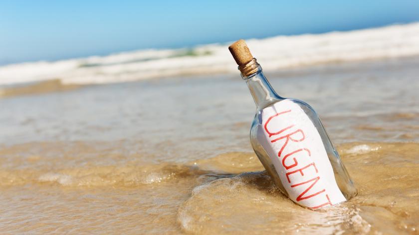 urgent message in a bottle