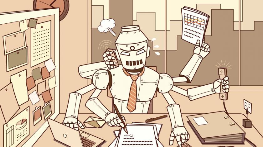 Machine employee