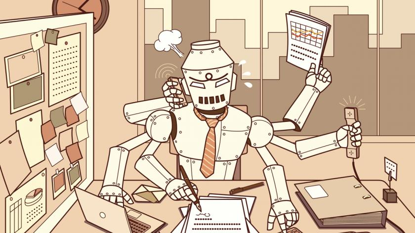 Busy robot