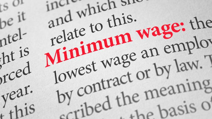 Definition of the word Minimum wage
