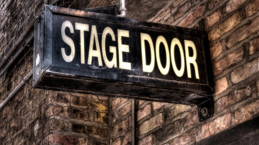 Illuminated Stage Door