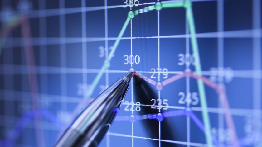 Stock data concept