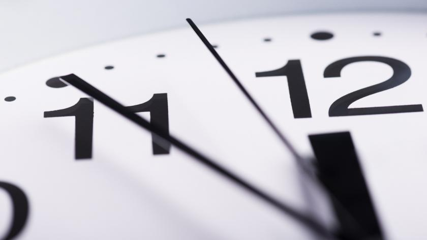 An image of a clock suggesting that time is running out