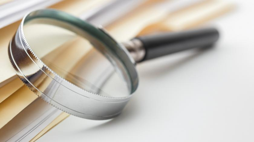 Magnify glass and documents