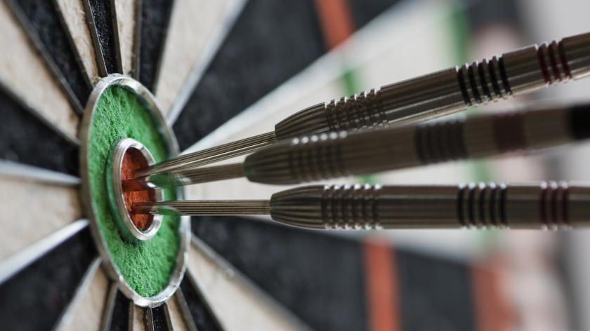 Bullseye on a dart board