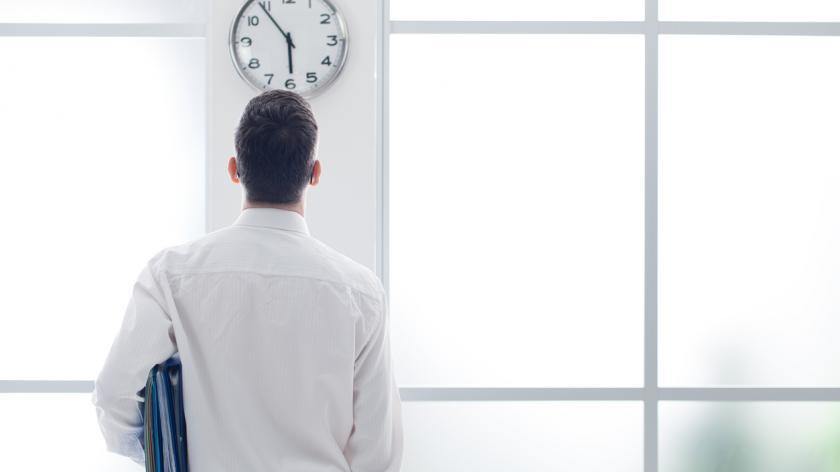 Business man clock watching