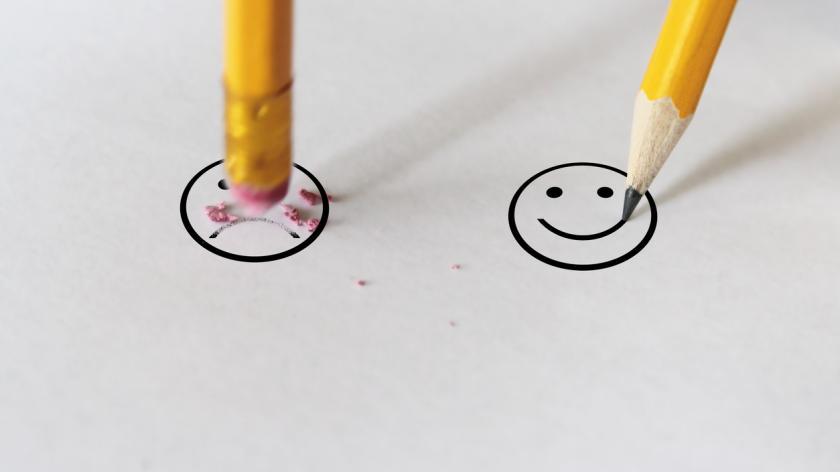 Sadness to happiness