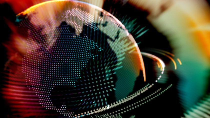 Colourful earth globe