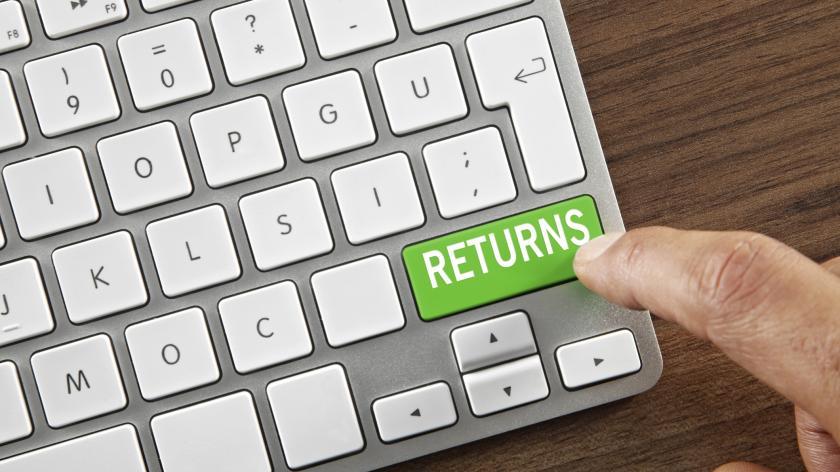 Returns button