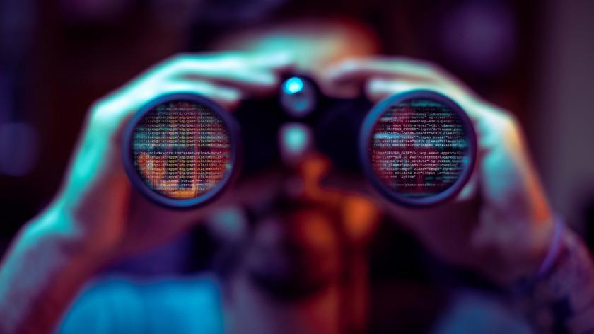 Hacker literally spying your data file using cyber binoculars