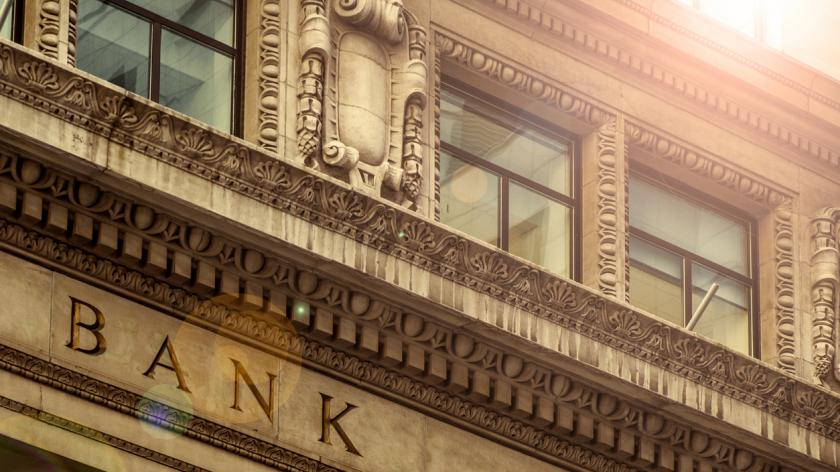 Details of a bank building