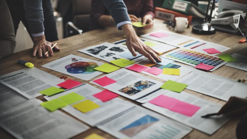 Business people brainstorm