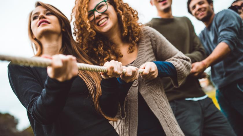 The self assessment client management challenge | AccountingWEB - picture of a tug of war