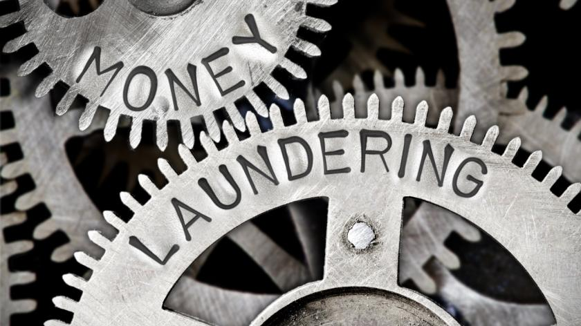 Money laundering metal wheel concept