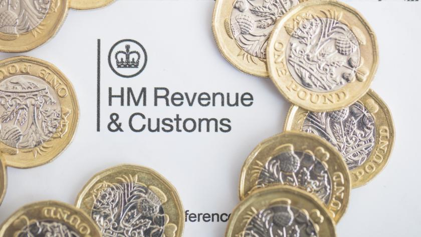 An editorial stock photo of the UK Inland Revenue Tax forms