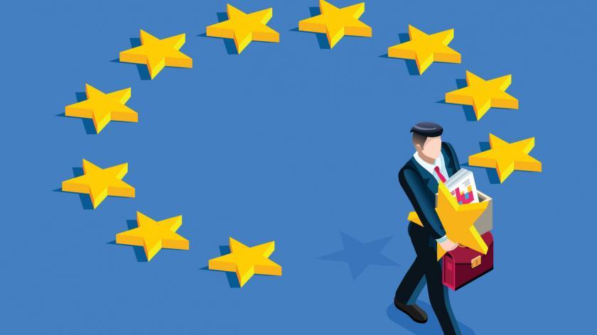 EU flag and recruitment
