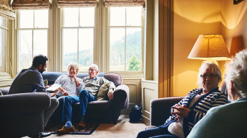 Senior people care home